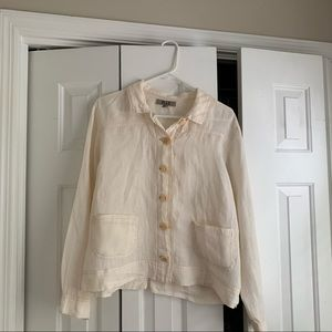 FLAX button down top size small